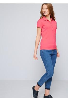 U.S. Polo Assn. Kadın Gtp-İy07 T-Shirt Pembe