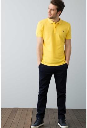 U.S. Polo Assn. Erkek Tp04İy7O Polo T-Shirt Hardal
