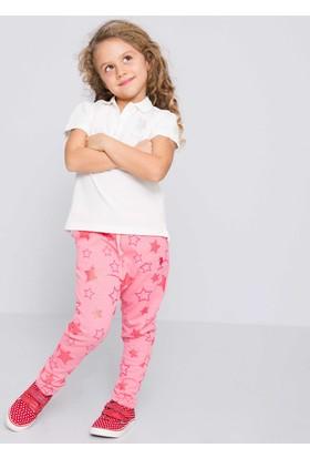 U.S. Polo Assn. Kız Çocuk Vatin T-Shirt Beyaz