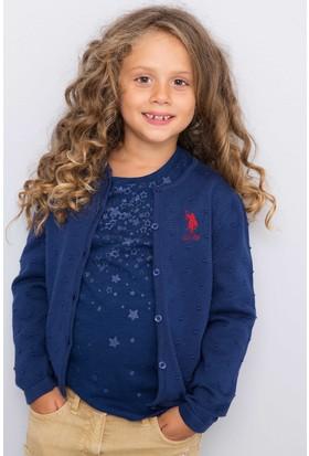 U.S. Polo Assn. Kız Çocuk Hırka Lacivert