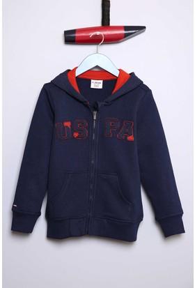 U.S. Polo Assn. Erkek Çocuk Jaxsk7 Sweatshirt Lacivert