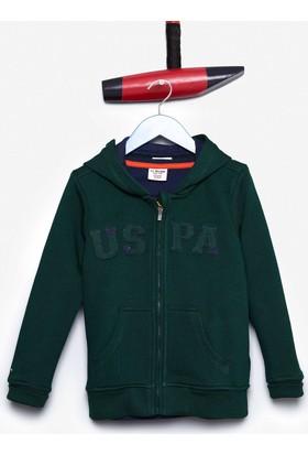 U.S. Polo Assn. Erkek Çocuk Jaxsk7 Sweatshirt Yeşil