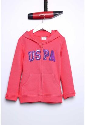 U.S. Polo Assn. Kız Çocuk Rw01-Sk700 Sweatshirt Pembe