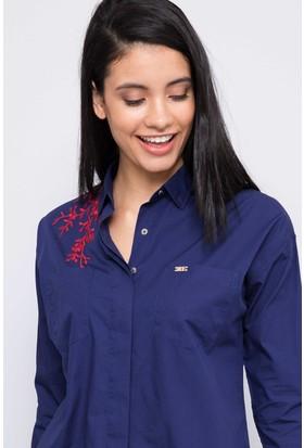 U.S. Polo Assn. Kadın Sarenda17K Gömlek Lacivert