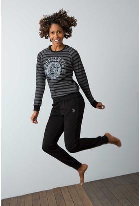 U.S. Polo Assn. Kadın 15944P Pijama Siyah
