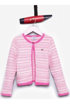 U.S. Polo Assn. Kız Çocuk Santa Hırka Pembe
