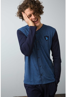 U.S. Polo Assn. Erkek 17503 Pijama Mavi