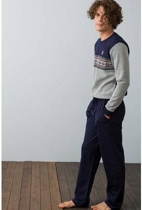 U.S. Polo Assn. Erkek 17511 Pijama Gri