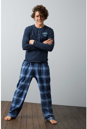U.S. Polo Assn. Erkek 17520 Pijama Mavi