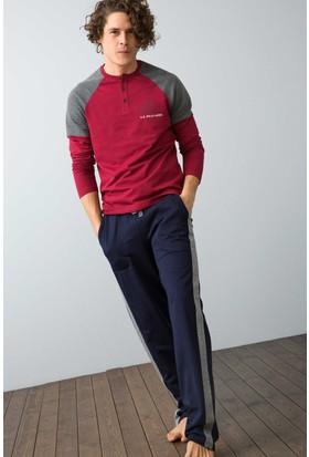 U.S. Polo Assn. Erkek 17550 Pijama Gri
