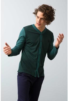 U.S. Polo Assn. Erkek Boydan Patlı Pijama Yeşil