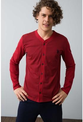 U.S. Polo Assn. Erkek Boydan Patlı Pijama Kırmızı