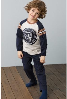 U.S. Polo Assn. Erkek Çocuk US118-1 Pijama Kahverengi