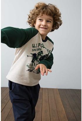 U.S. Polo Assn. Erkek Çocuk US122-1 Pijama Kahverengi