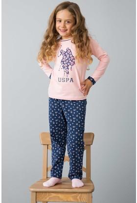 U.S. Polo Assn. Kız Çocuk US150-1 Pijama Pembe