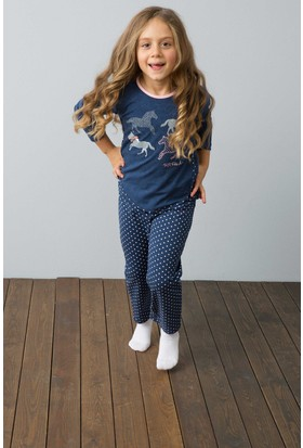 U.S. Polo Assn. Kız Çocuk US152-1 Pijama Lacivert