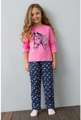 U.S. Polo Assn. Kız Çocuk US156-1 Pijama Pembe