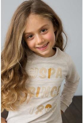U.S. Polo Assn. Kız Çocuk US168-1 Pijama Kahverengi