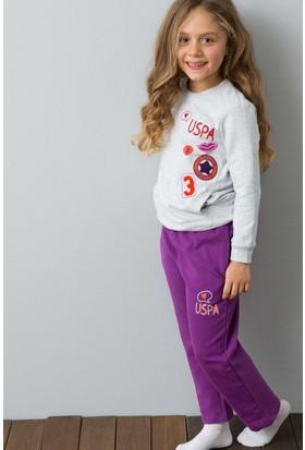 U.S. Polo Assn. Kız Çocuk US170-1 Pijama Gri