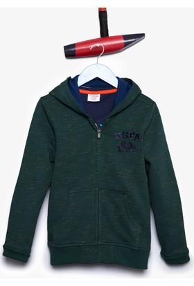 U.S. Polo Assn. Erkek Çocuk Jamiro Sweatshirt Yeşil