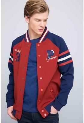 U.S. Polo Assn. Erkek Windel Sweatshirt Kırmızı