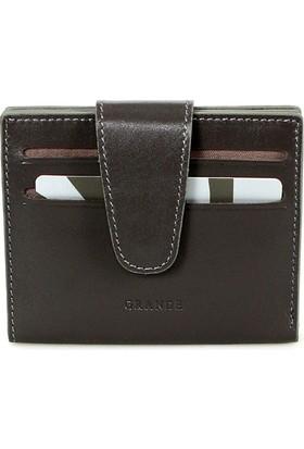 Grande 00710 Deri Kredi Kartlık Vej-Gri