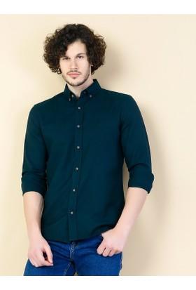 Colin's Yeşil Erkek Gömlek Uzun Kol