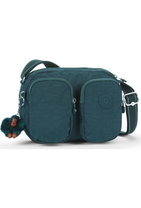 Kipling Patti Basic Omuz Çantası Deep Emera K12187-89W