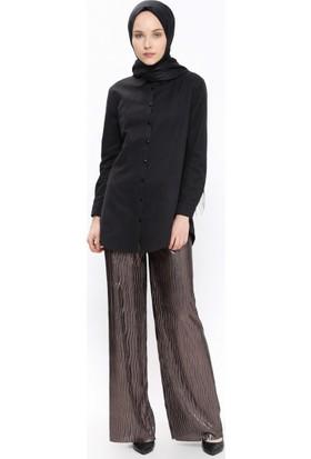 Beli Lastikli Pantolon - Kahverengi - Casual By Dide