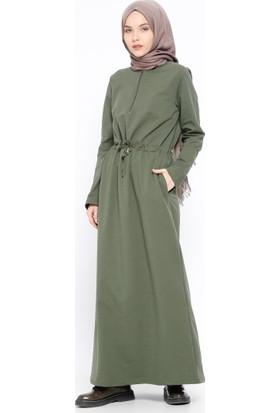Fermuar Detaylı Elbise - Haki - Bwest