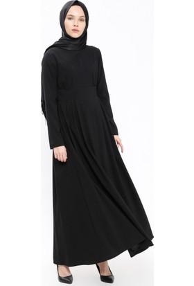 Cep Detaylı Elbise - Siyah - Neways