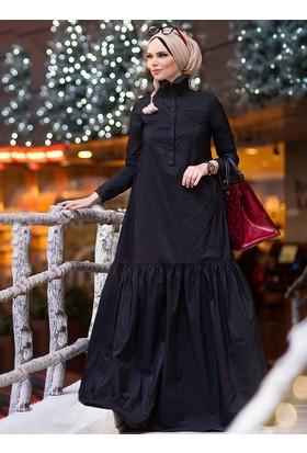 Oxford Elbise - Siyah - Muslima Wear