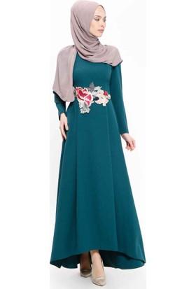 Nil Abiye Elbise - Yeşil - SomFashion