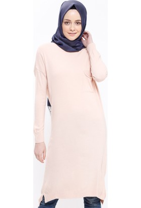 Triko Tunik - Pudra - Seyhan Fashion