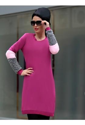 Kolları Peluş Tunik - Pembe - Selma Sarı Design