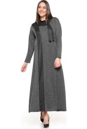 İnci Detaylı Elbise - Siyah - Metex