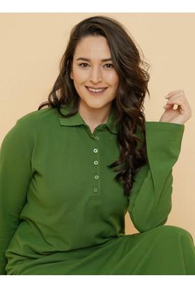 Doğal Kumaşlı Spor Elbise - Yeşil - Alia