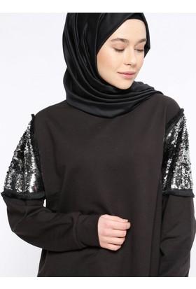 Payetli Tunik - Siyah - Casual By Dide