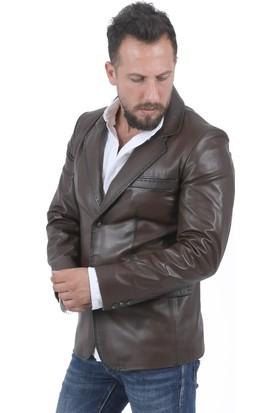 Deri Company Blazer Kahverengi Erkek Ceket