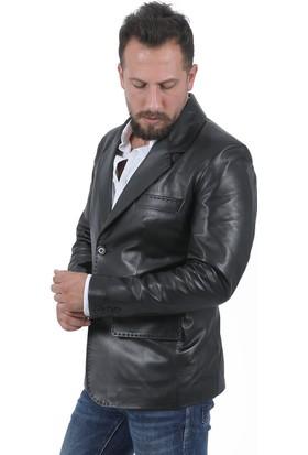 Deri Company Blazer Siyah Erkek Ceket