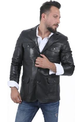 Deri Company Erkek Safari Siyah Ceket