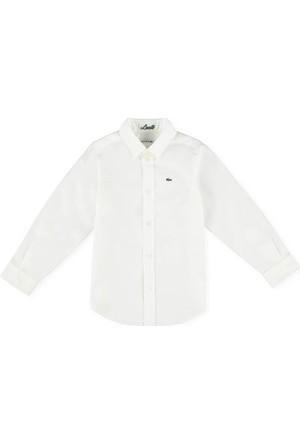 Lacoste Erkek Çocuk Gömlek Beyaz CJ2907.001