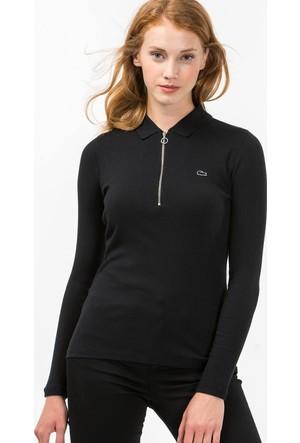 Lacoste Kadın Polo Sweatshirt Siyah PF1807.07S