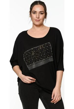 Lir Kadın Yarasa Kol Bluz Siyah 2191