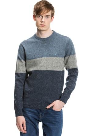 Nautica Lacivert Uzun Kollu Renkli Erkek Sweatshirt S73304T.4CN