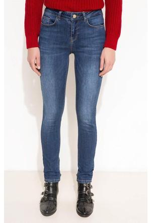 DeFacto Kadın Denim Pantolon Mavi