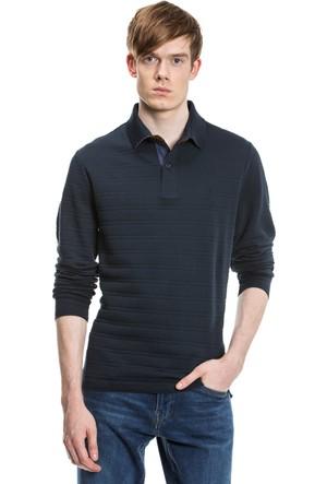 Nautica Slim Fit Armürlü Lacivert Erkek Sweatshirt K73002T.4PQ