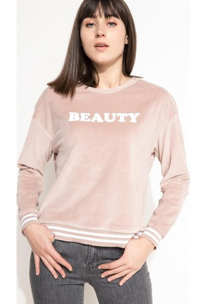 DeFacto Kadın Baskılı Sweatshirt Turuncu