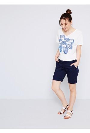 U.S. Polo Assn. Comera Kadın T-Shirt Beyaz