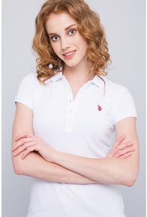 U.S. Polo Assn. Kadın Gtp-İy07 T-Shirt Beyaz